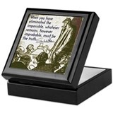 Sherlock Holmes Truth Keepsake Box