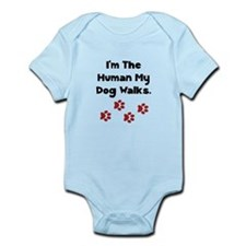Human Dog Walks Infant Bodysuit