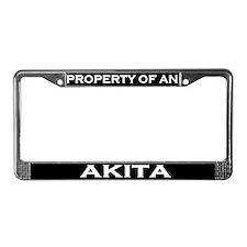 Property of Akita License Plate Frame