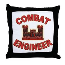 US Army Combat Engineer Brick Throw Pillow