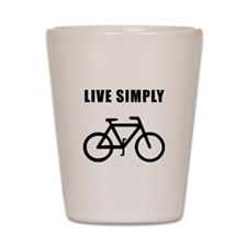 Live Simply Bike Shot Glass