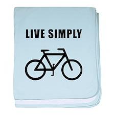 Live Simply Bike baby blanket