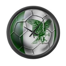 Nigeria Football Large Wall Clock