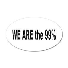 Occupy Wall Street: 38.5 x 24.5 Oval Wall Peel