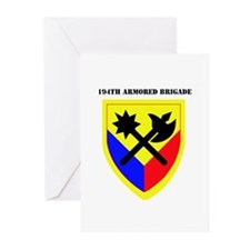 SSI-194TH ARMORED BDE WITH TEXT Greeting Cards (Pk