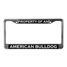 Property of American Bulldog License Plate Frame