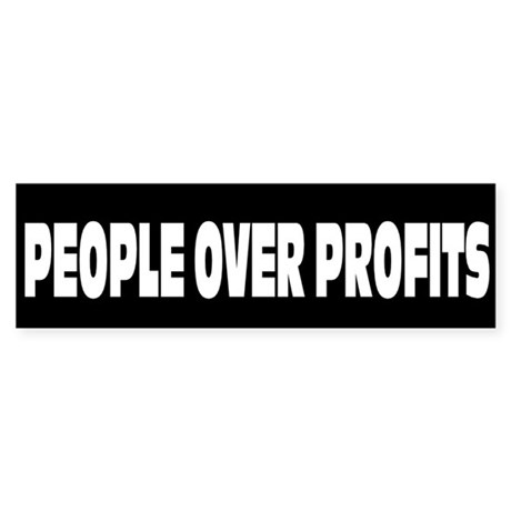 People Over Profits: Sticker (Bumper)
