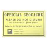 GeoCache Rectangle Decal