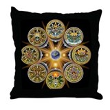 Witch's Wheel of the Year Throw Pillow