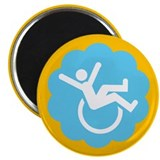 "Chronically Awesome Wheelie 2.25"" Magnet (100 pack"