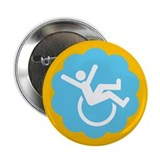 Chronically Awesome Wheelie 2.25&quot; Button