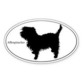 Affenpinscher Silhouette Decal