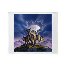 Cute Three wolf moon Throw Blanket