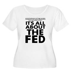 The Fed Women's Plus Size Scoop Neck T-Shirt