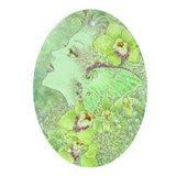 Green Fairy Ornament (Oval)