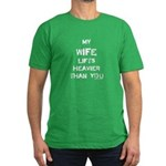 Wife lifts heavier Men's Fitted T-Shirt (dark)