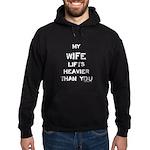 Wife lifts heavier Hoodie (dark)
