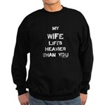 Wife lifts heavier Sweatshirt (dark)