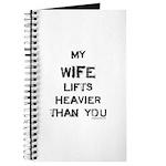 Wife lifts heavier Journal