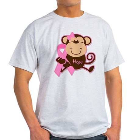 Monkey Cancer Hope Light T-Shirt