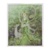 Lady of Compassion Throw Blanket