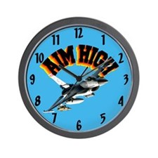 F16 Aim High Wall Clock