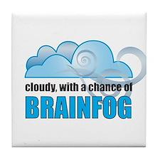 Chance of Brainfog Tile Coaster