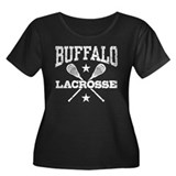 Buffalo Lacrosse Women's Plus Size Scoop Neck Dark