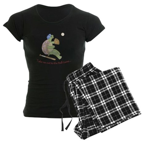 Baseball - Turtle Women's Dark Pajamas