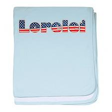 American Lorelei baby blanket
