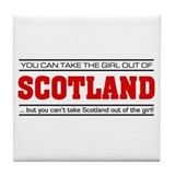 'Girl From Scotland' Tile Coaster