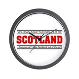 'Girl From Scotland' Wall Clock