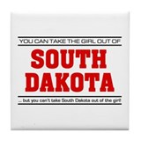 'Girl From South Dakota' Tile Coaster