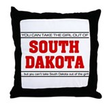 'Girl From South Dakota' Throw Pillow