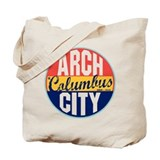 Columbus Vintage Label Tote Bag
