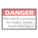 Danger Shih Tzu Decal