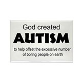 Autism offsets boredom Rectangle Magnet (100 pack)