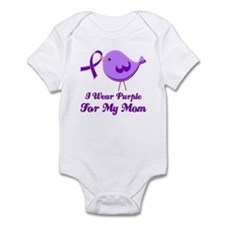 I Wear Purple For My Mom Infant Bodysuit