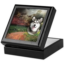 """Why God Made Dogs"" Malamute Keepsake Box"