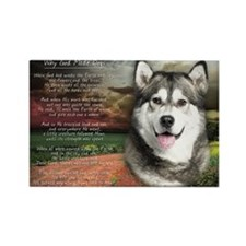 """Why God Made Dogs"" Malamute Rectangle Magnet"