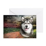 &quot;Why God Made Dogs&quot; Malamute Greeting Card