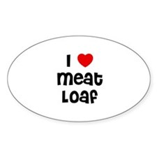 I * Meat Loaf Oval Decal