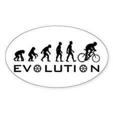 Evolution Of Bike Oval Decal