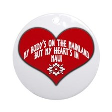 My Heart's In Maui Ornament (Round)