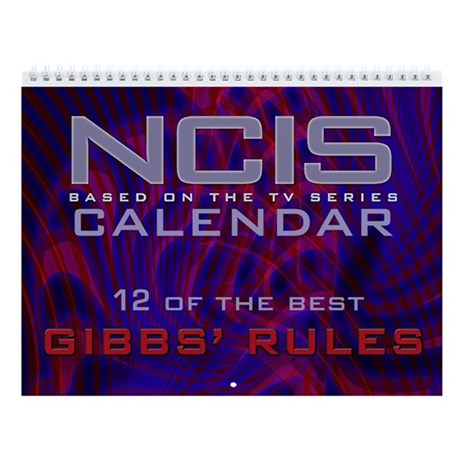NCIS Gibbs' Rules Wall Calendar