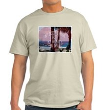 My Heart's On Maui Scene Ash Grey T-Shirt