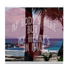 My Heart's On Maui Scene Tile Coaster