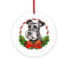 Schnauzer Wreath Ornament (Round)