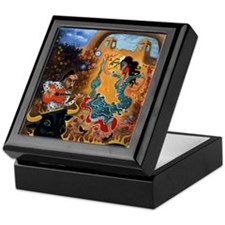 """Flamenco Garden"" Keepsake Box"