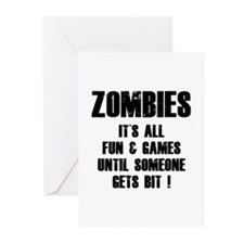 Zombies Fun and Games Greeting Cards (Pk of 10)